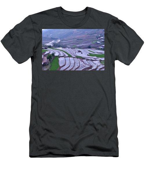 Sapa Rice Paddies Men's T-Shirt (Athletic Fit)