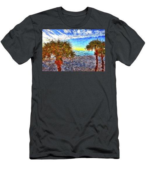 Sarasota Beach Florida Men's T-Shirt (Slim Fit) by Joan Reese