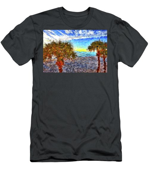 Men's T-Shirt (Athletic Fit) featuring the photograph Sarasota Beach Florida by Joan Reese