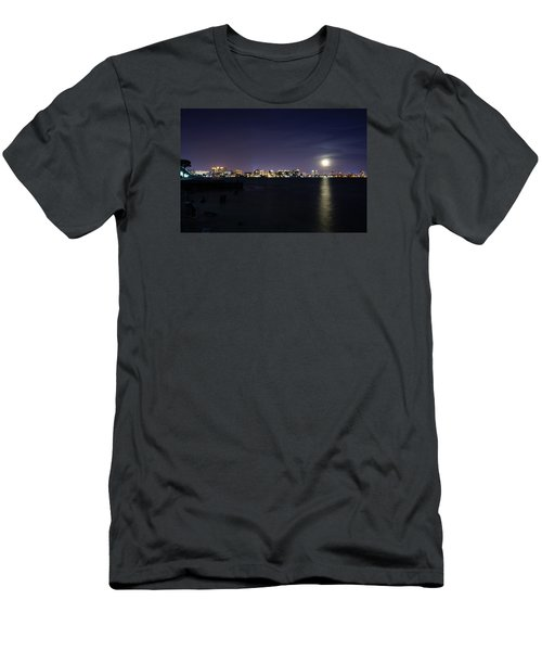 Sarasota Cityscape-night-full Moon 2 Men's T-Shirt (Athletic Fit)