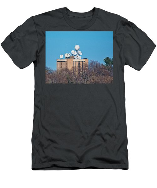 Satellite Dishes - Madison - Wisconsin Men's T-Shirt (Athletic Fit)