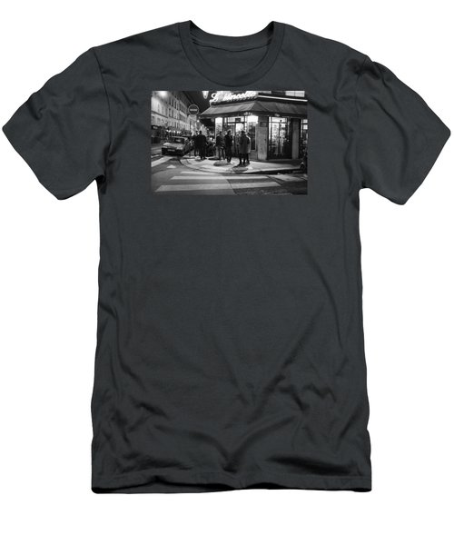 Saturday Evening In Paris Men's T-Shirt (Slim Fit) by Hugh Smith