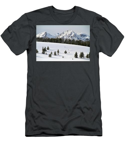 Sawtooth Wilderness Central Idaho Men's T-Shirt (Athletic Fit)