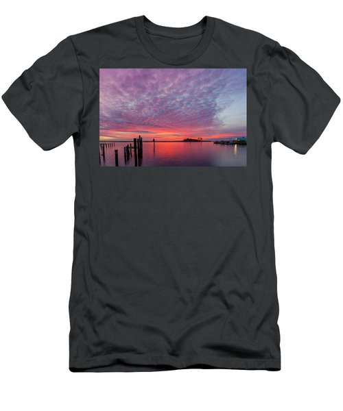 Saxis Sunset Men's T-Shirt (Slim Fit) by David Cote