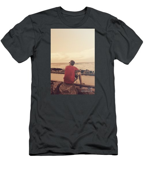 Men's T-Shirt (Athletic Fit) featuring the photograph Scarborough Jetty Sunset by Jorgo Photography - Wall Art Gallery