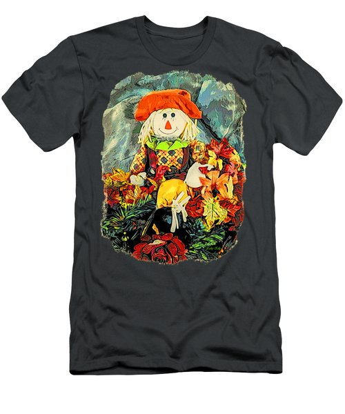 Men's T-Shirt (Slim Fit) featuring the photograph Scarecrow T-shirt by Kathy Kelly