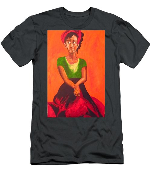 Men's T-Shirt (Athletic Fit) featuring the painting Scarlet by Esther Newman-Cohen