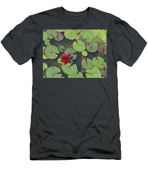 Scarlet Waterlily Men's T-Shirt (Athletic Fit)