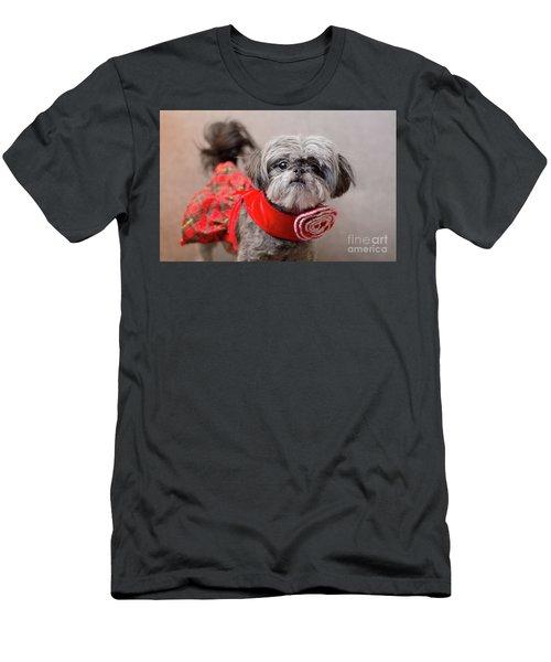 Scarlett In Christmass Dress Men's T-Shirt (Athletic Fit)