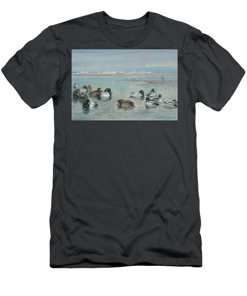 Scaup, Golden Eye And Smew Men's T-Shirt (Athletic Fit)