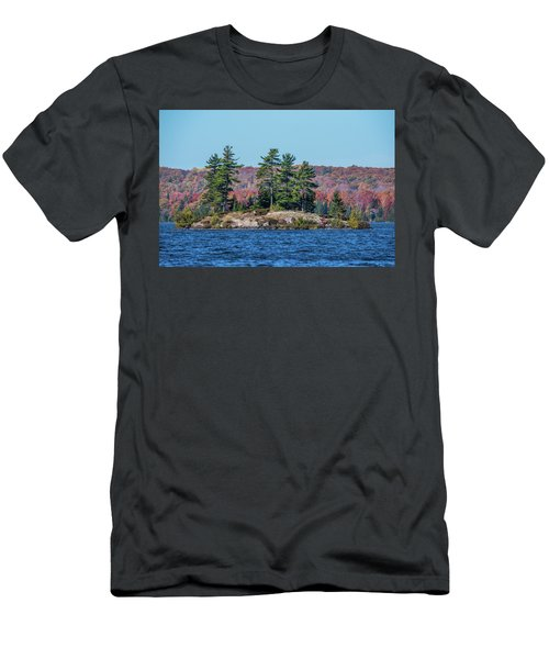 Men's T-Shirt (Slim Fit) featuring the photograph Scenic Fall View by Paul Freidlund