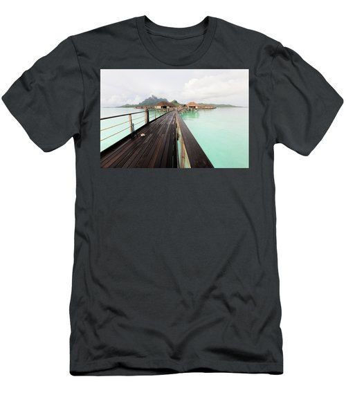 Scenic Walk To The Bungalow Men's T-Shirt (Athletic Fit)