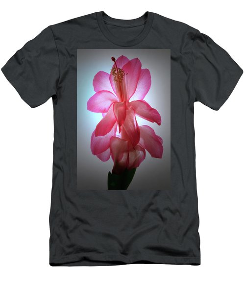 Men's T-Shirt (Slim Fit) featuring the photograph Schlumbergera Portrait. by Terence Davis