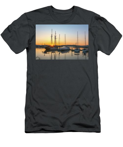 Schooners Sunburst Men's T-Shirt (Slim Fit) by Angelo Marcialis