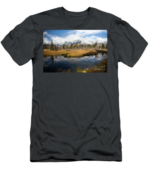 Schwabachers Landing, Grand Teton National Park Wyoming Men's T-Shirt (Athletic Fit)