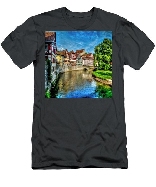Men's T-Shirt (Athletic Fit) featuring the photograph Schwabish Hall by David Morefield