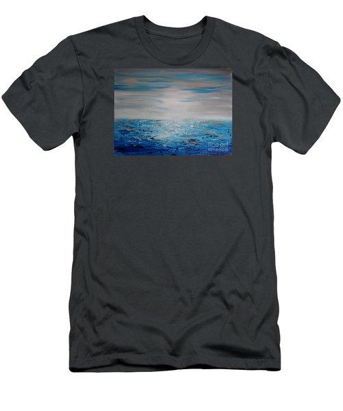 Sea Blue Men's T-Shirt (Athletic Fit)