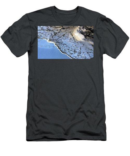 Sea Foam Shoreline Men's T-Shirt (Athletic Fit)