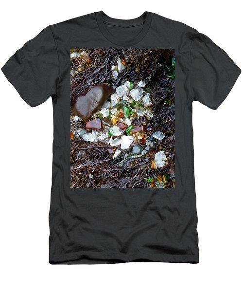 Sea Glass Nest Men's T-Shirt (Slim Fit) by Amelia Racca
