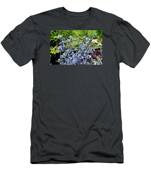 Sea Holly Blooming Men's T-Shirt (Slim Fit) by Tanya Searcy