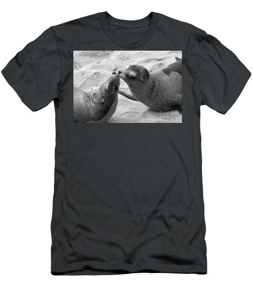 Men's T-Shirt (Athletic Fit) featuring the photograph Sea Lion Tenderness by John F Tsumas