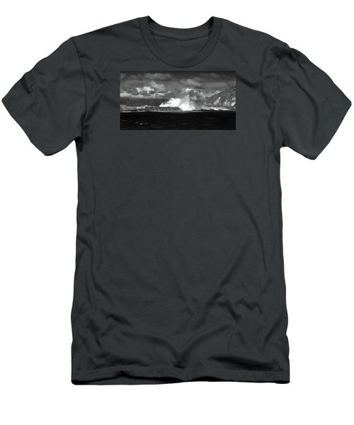 Men's T-Shirt (Athletic Fit) featuring the photograph Sea Meets Sky by Nareeta Martin