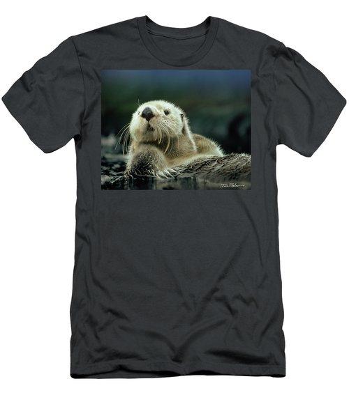 Sea Otter  Men's T-Shirt (Slim Fit) by Tim Fitzharris