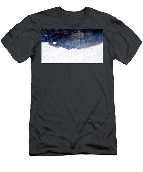 Sea, Satellite - Coast Line On Blue Ocean Illusion Men's T-Shirt (Athletic Fit)
