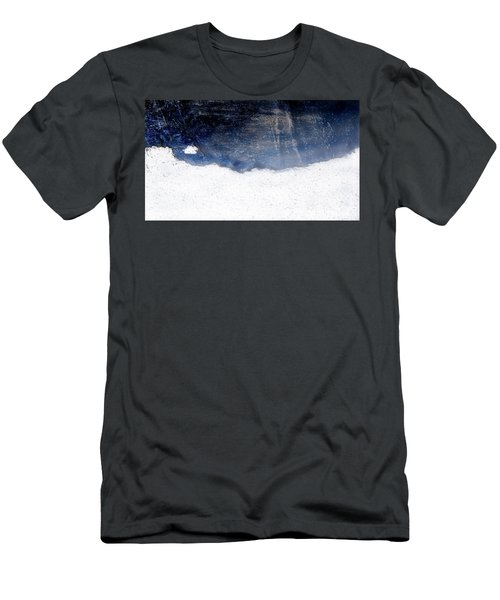 Sea, Satellite - Coast Line On Blue Ocean Illusion Men's T-Shirt (Athletic Fit)
