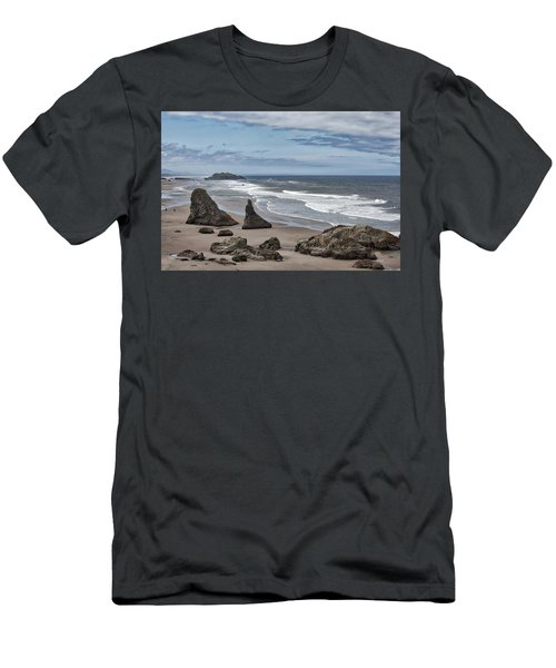 Sea Stacks And Surf Men's T-Shirt (Athletic Fit)