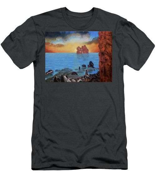 Sea Sunset Men's T-Shirt (Athletic Fit)