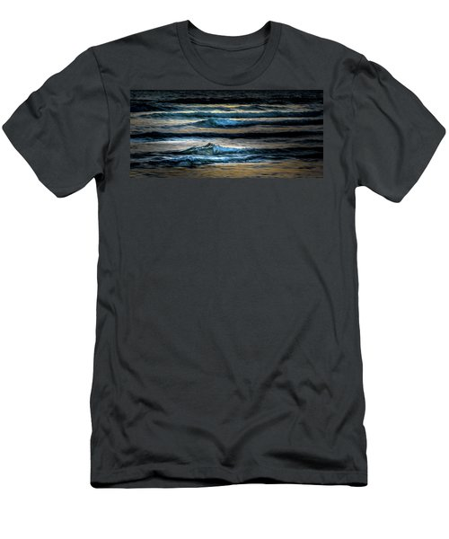 Sea Waves After Sunset Men's T-Shirt (Athletic Fit)