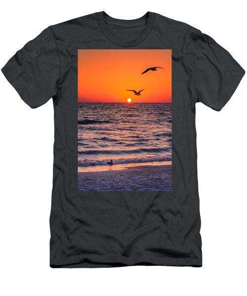 Seagull Hat-trick Men's T-Shirt (Slim Fit) by Craig Szymanski