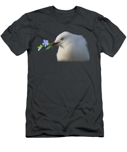 Seagull Men's T-Shirt (Slim Fit) by Ivana Westin