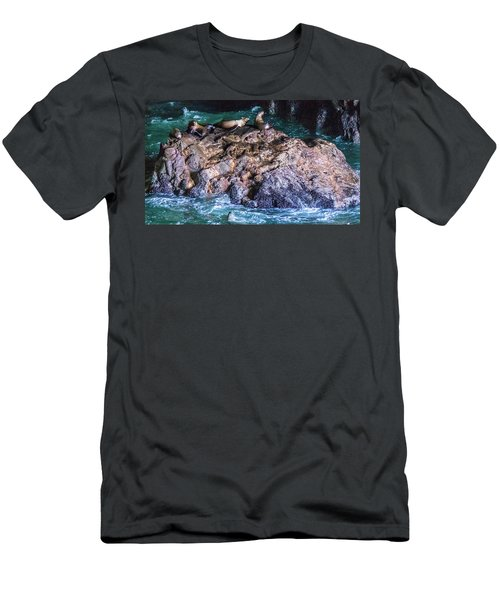 Men's T-Shirt (Athletic Fit) featuring the photograph Seal  Rock by Jonny D