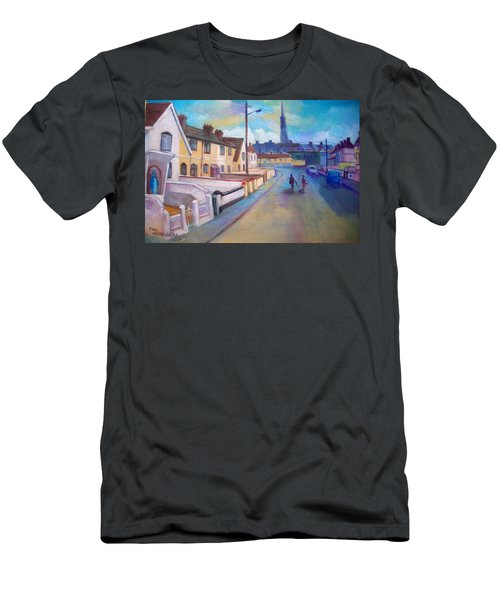 Men's T-Shirt (Slim Fit) featuring the painting Sean Hueston Place Limerick Ireland by Paul Weerasekera