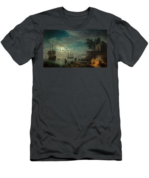 Seaport By Moonlight Men's T-Shirt (Athletic Fit)