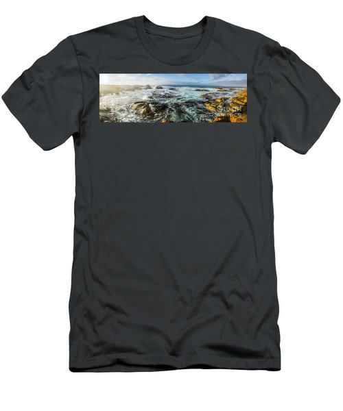Seas Of The Wild West Coast Of Tasmania Men's T-Shirt (Athletic Fit)