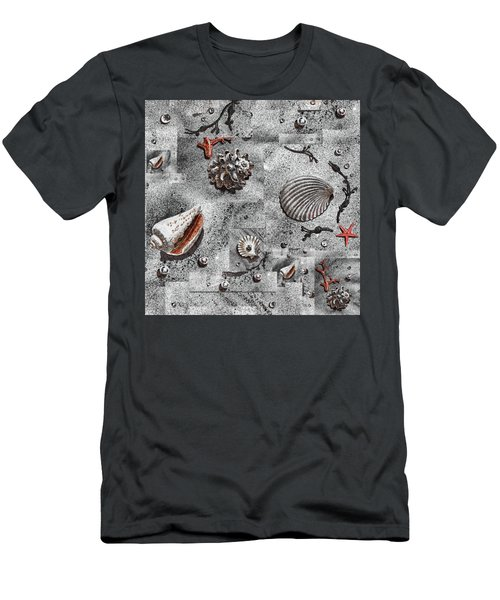 Seashells Collage Of Any Color Men's T-Shirt (Slim Fit) by Irina Sztukowski