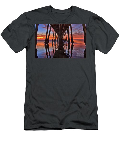 Seaside Reflections Under The Imperial Beach Pier Men's T-Shirt (Athletic Fit)
