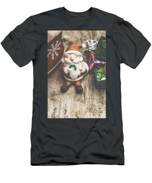 Seasons Greeting Santa Men's T-Shirt (Athletic Fit)