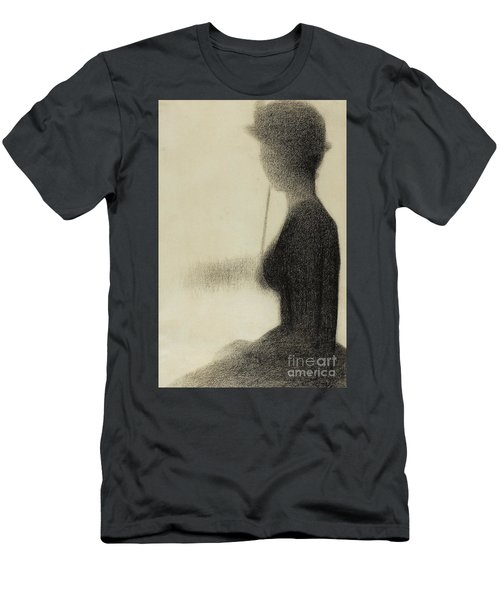 Seated Woman With A Parasol  Men's T-Shirt (Athletic Fit)