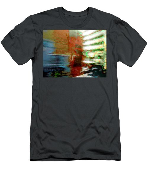 Men's T-Shirt (Slim Fit) featuring the photograph Seattle By Train by Lori Seaman