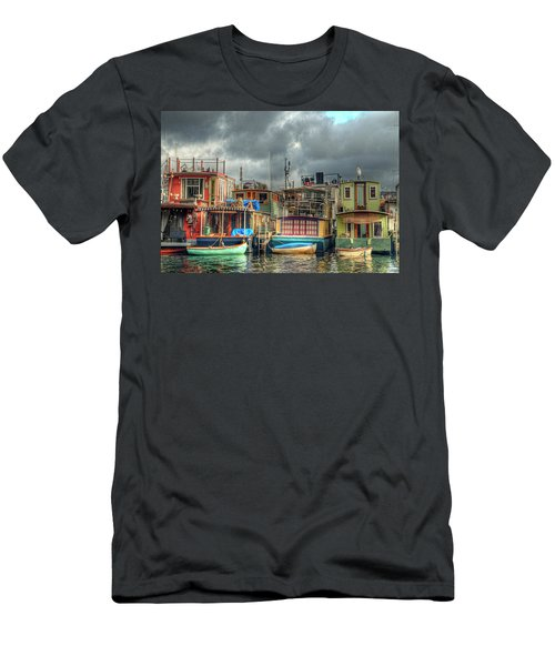 Seattle Houseboats Fine Art Photograph Men's T-Shirt (Athletic Fit)