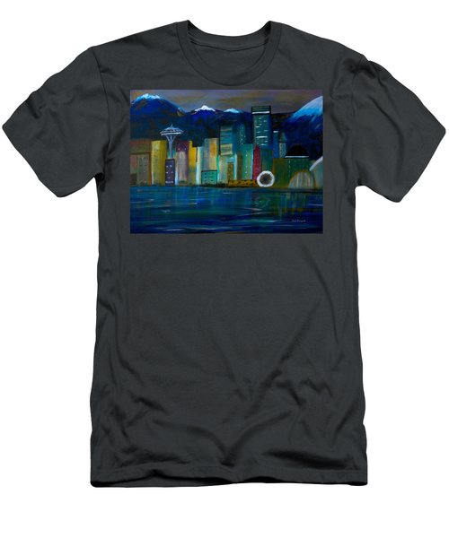 Seattle Skyiline Men's T-Shirt (Athletic Fit)