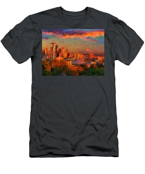 Seattle Sunset 1 Men's T-Shirt (Athletic Fit)