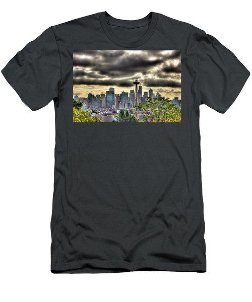 Seattle Washington Men's T-Shirt (Slim Fit) by David Patterson