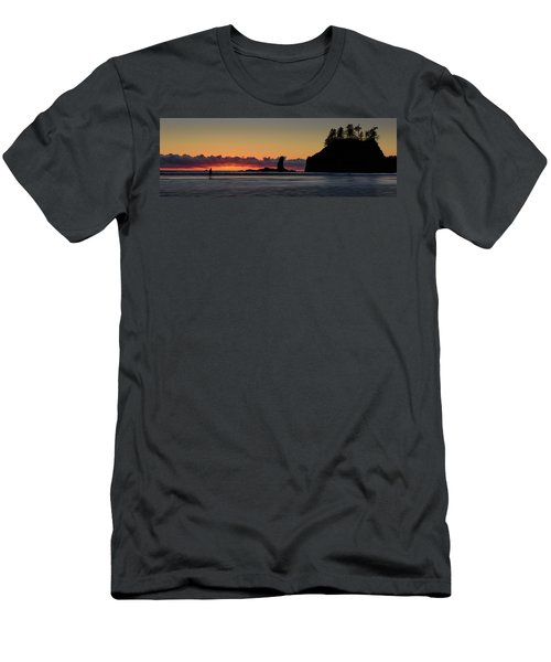 Men's T-Shirt (Slim Fit) featuring the photograph Second Beach Silhouettes by Dan Mihai