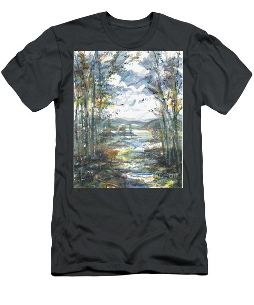 Men's T-Shirt (Athletic Fit) featuring the painting Secret Sailing Spot by Reed Novotny