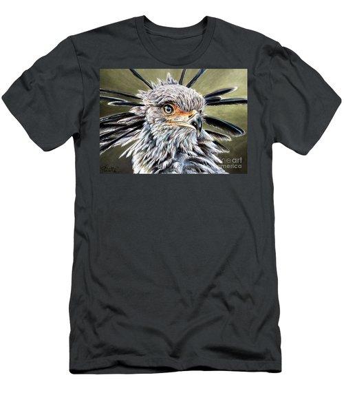 Secretary Bird Men's T-Shirt (Athletic Fit)
